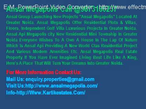 @9873080235 Megapolis City Plots & Villa Ansal API Group Noida & Greater Noida & Delhi & Gurgaon