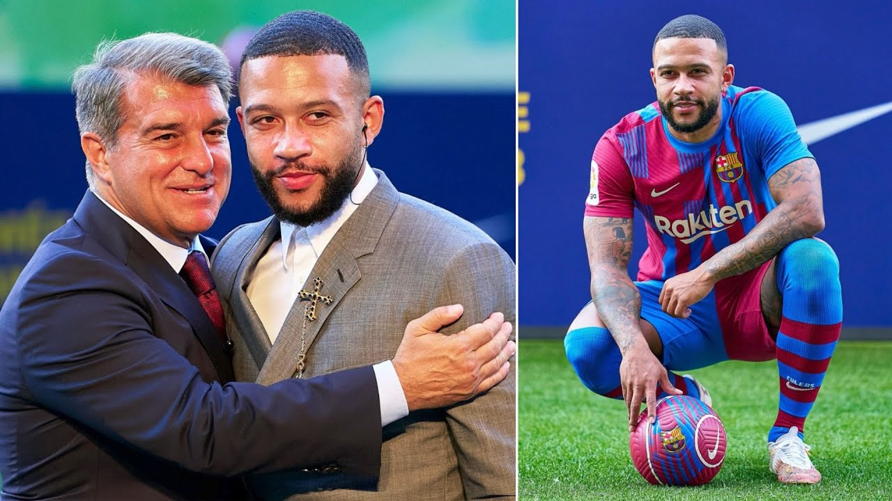 Memphis Depay presented as a new Barcelona player!   First words & unveiling at the Camp Nou