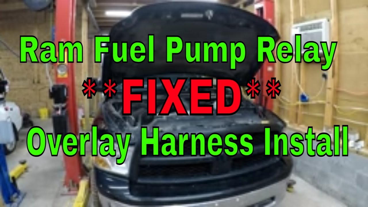 Installing a Dodge fuel pump relay byp for a faulty TIPM repair on