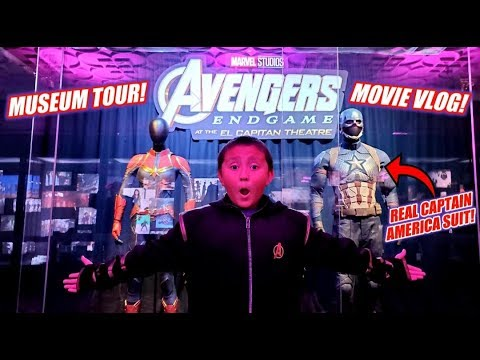 NEW AVENGERS ENDGAME MUSEUM & MOVIE VLOG!! SEE OUR MARVEL REPLICAS INSIDE OUR OWN MUSEUM COLLECTION! from YouTube · Duration:  29 minutes 35 seconds