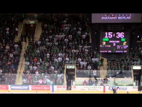 UND fans after Connor Gaarder's Hat Trick Goal