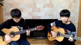 ♬비전기타 합주♡  홍석훈, 최훈기(동암중1)「Lonely(2NE1)」