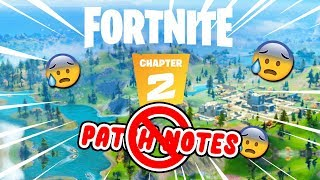 WHY EPIC GAMES WILL NOT RELEASE PATCH NOTES FOR FORTNITE CHAPTER 2