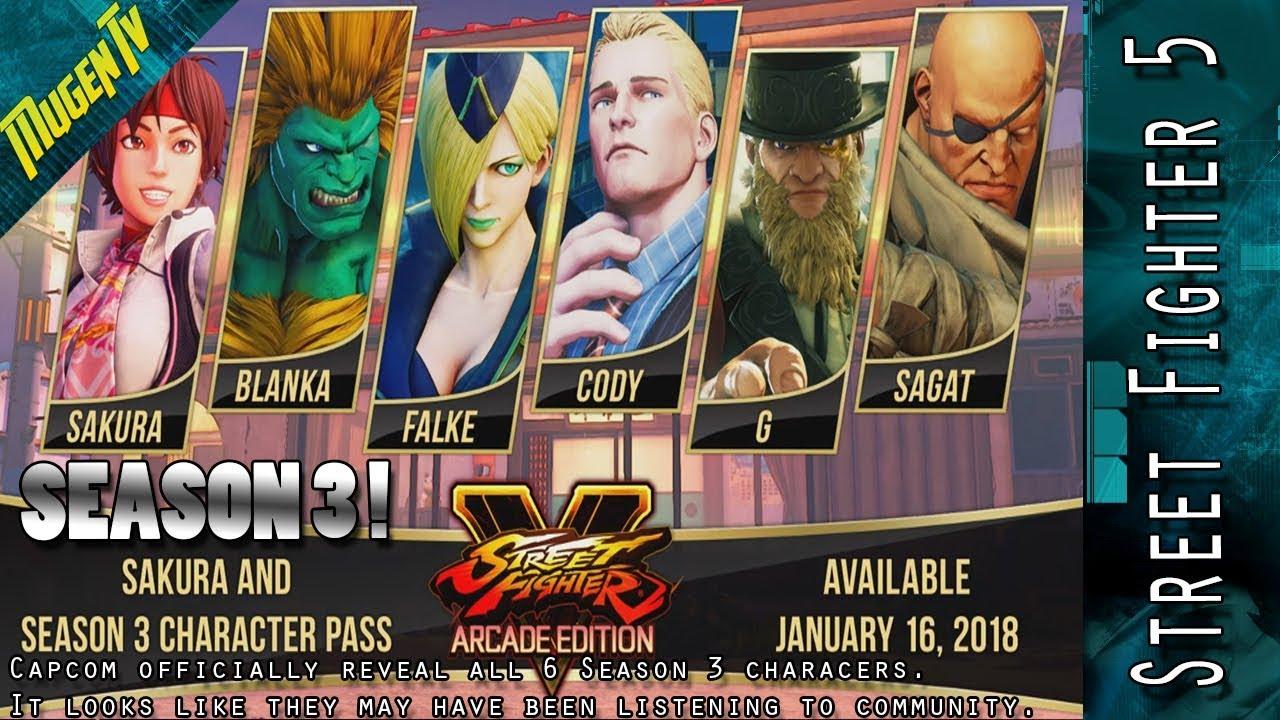 Street Fighter 5 Ae Sakura Season 3 Dlc Cast Revealed Mugen