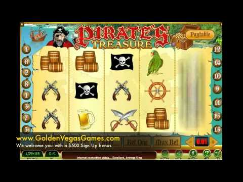 Pirate's Treasure | Play Free Slots Games Online  www.GoldenVegasGames.com