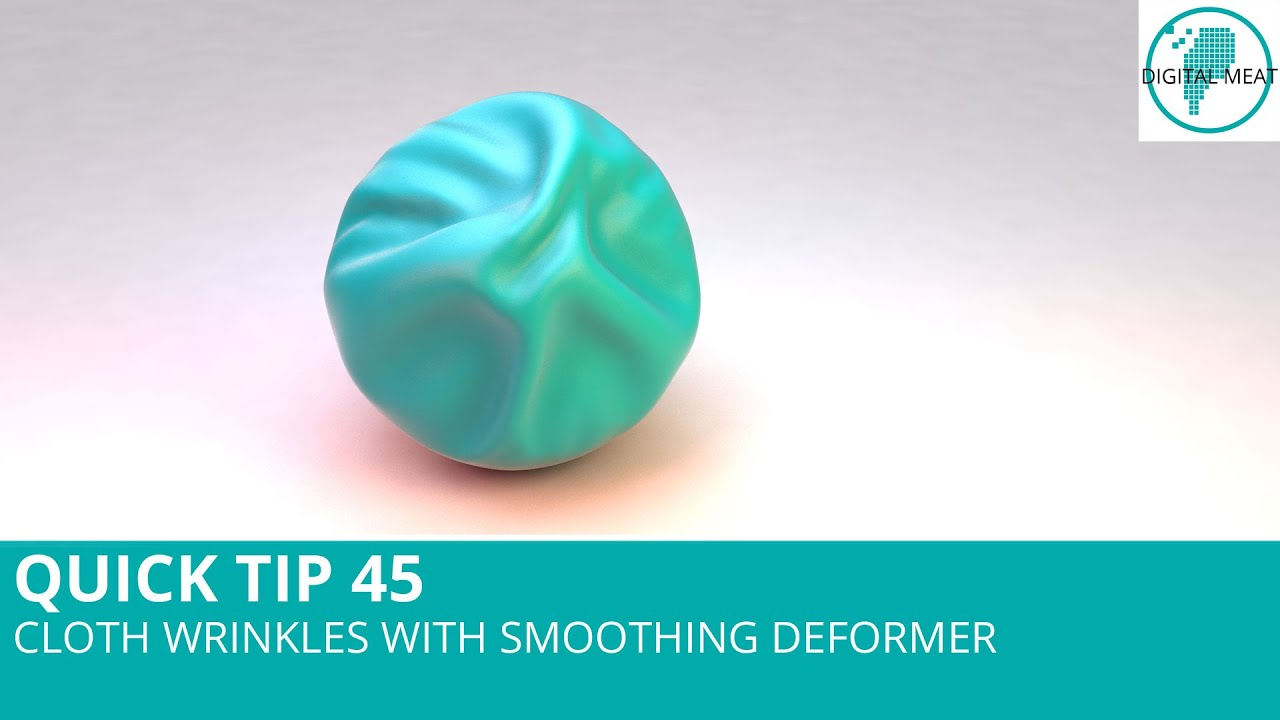 Quick Tip 45: Cloth Wrinkles With Smoothing Deformer