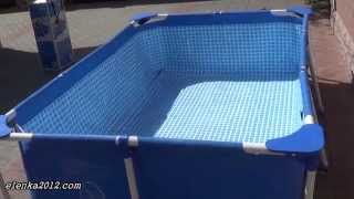 видео бассейн intex каркасный