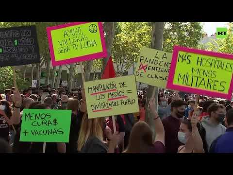 'We have dignity' | Protest for better health services in Madrid
