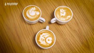 Как сделать рисунок на кофе (часть 2) [ Рецепты от Рецептор ](Второе видео про секреты создания рисунков на кофе с тремя новыми узорами. Сладкое https://goo.gl/JvJuPc Блюда из..., 2016-01-25T15:18:04.000Z)