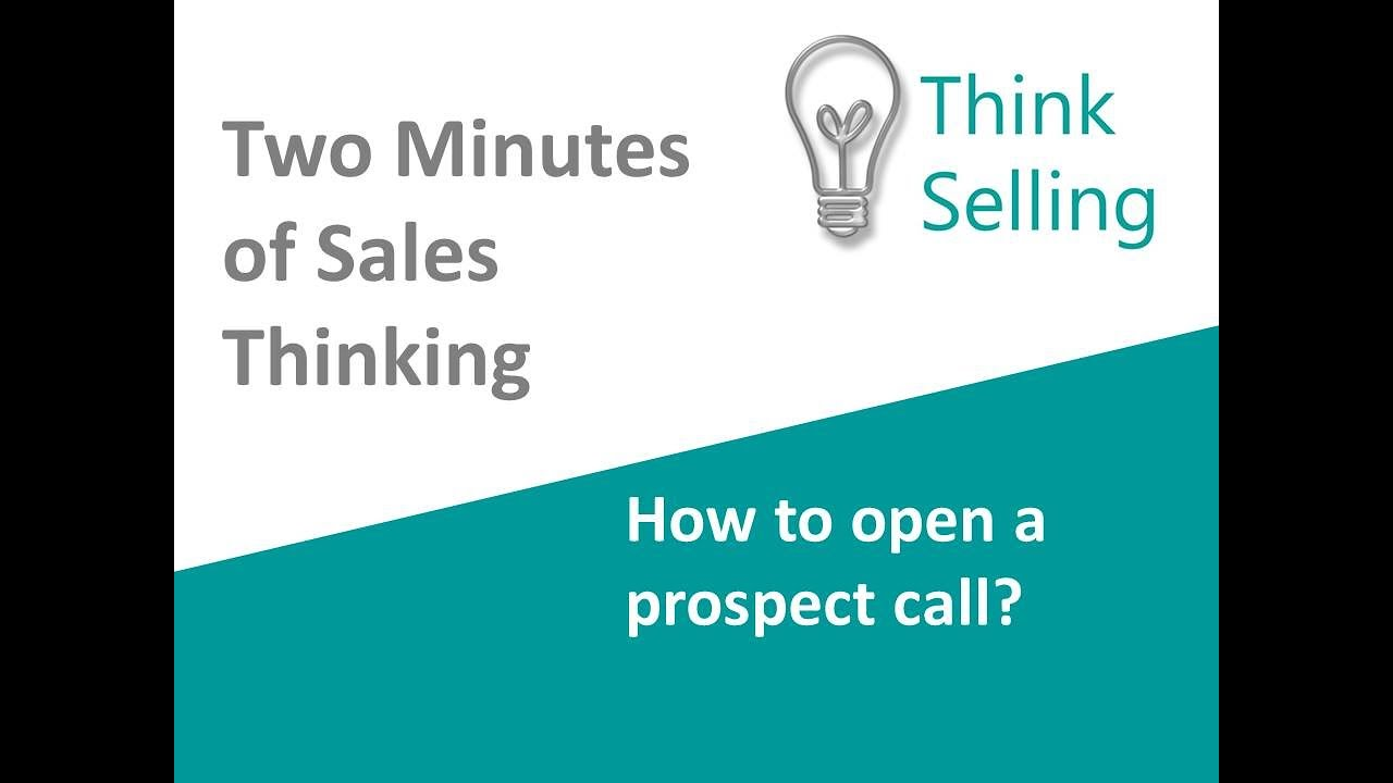 How to open a prospecting call