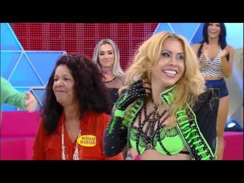 Dupla se apresenta no Canjica Show e realiza sonho de dançar com Joelma