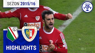 Legia Warszawa - Piast Gliwice 1:1 [skrót] sezon 2015/16 kolejka 20