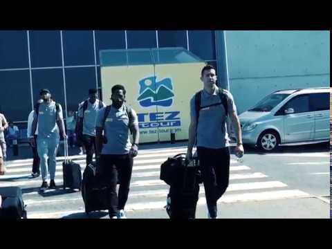 Maccabi Tel Aviv players at Cyprus