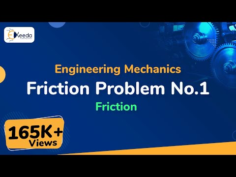 Problem no. 1 on Friction in Engineering Mechanics