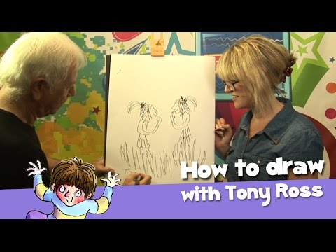 Tony Ross teaches Bex how to draw like him!