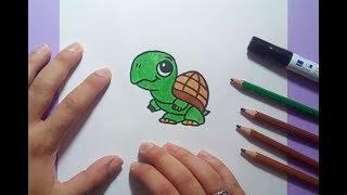 Como dibujar una tortuga paso a paso 8   How to draw a tortoise 8