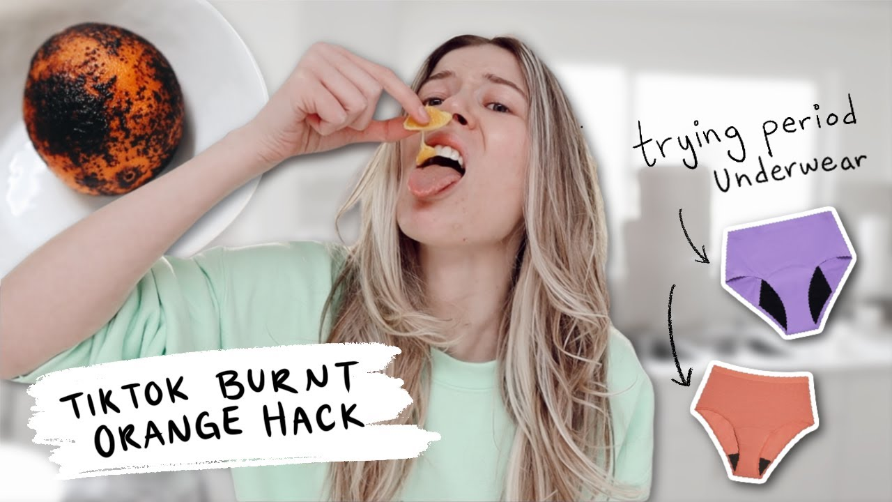 VLOG // covid update, trying the burnt orange hack + period underwear