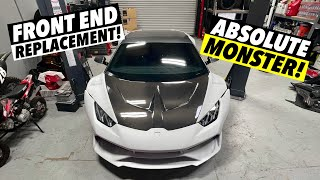 homepage tile video photo for Installing a Lamborghini Huracan Widebody kit! [Part 2]