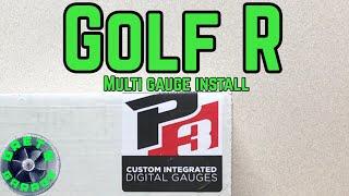 VW Golf R P3 Multi Gauge Install