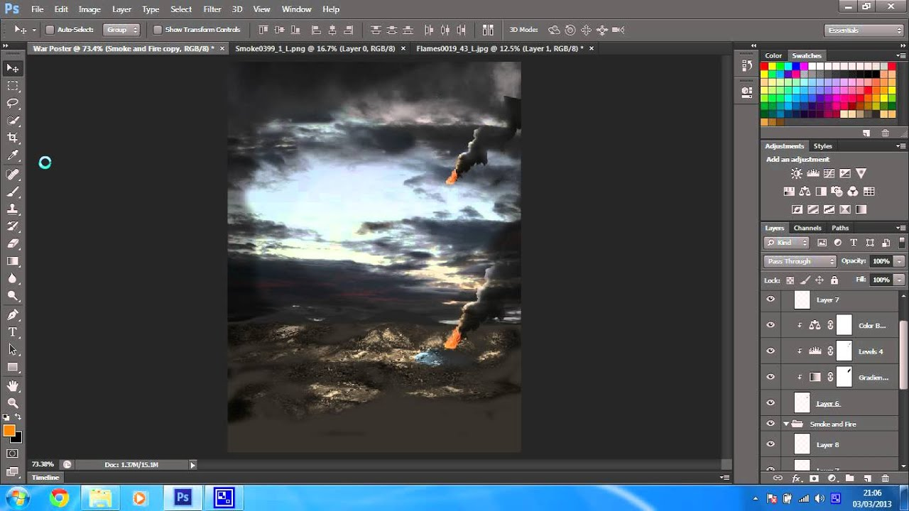 Create a war scene with stock images photoshop cs6 tutorial part create a war scene with stock images photoshop cs6 tutorial part 14 baditri Choice Image
