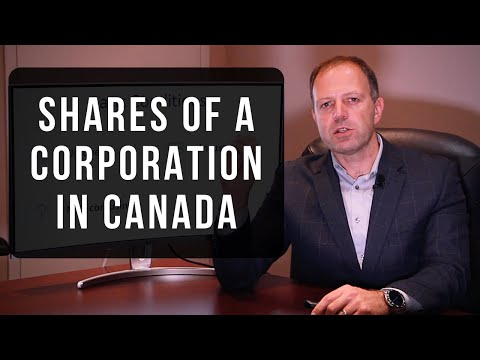 Shares of a corporation in Canada