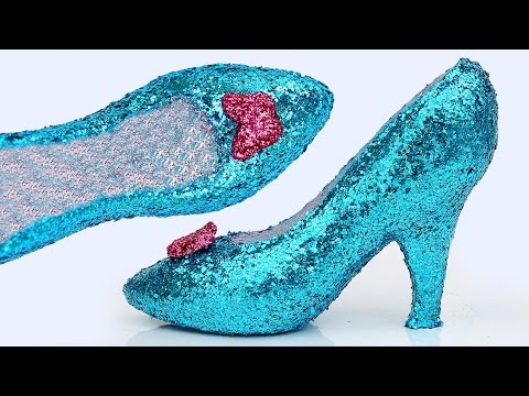965b24ec001 DIY How To Make Frozen Elsa Play Doh Super Glitter High Heels Disney ...