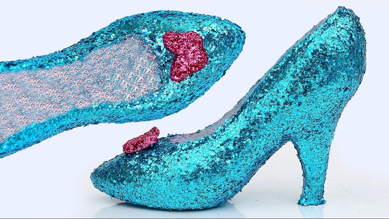 a599e2c7294 DIY How To Make Frozen Elsa Play Doh Super Glitter High Heels Disney  Princess Sparkle Shoes Mighty T