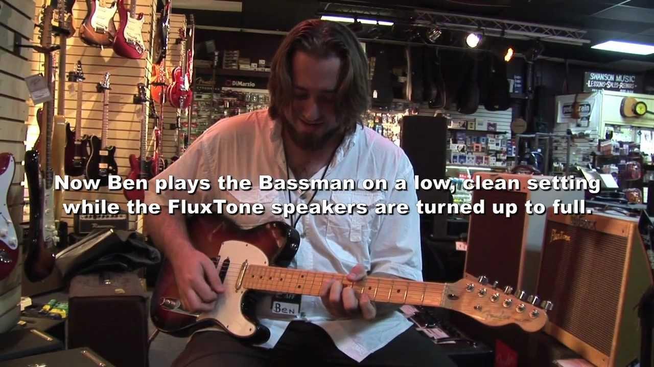 Corner Music, Ben Miller, plays a Fender BF Bassman with FluxTone guitar  amp speaker attenuator