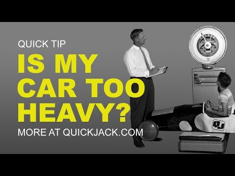 Make CERTAIN Weight is Safe for QuickJack Car Lift!