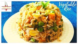 Veg. rice with biryani twist/ recipe wth leftover rice/ veg pulao/ quick biryani
