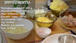 Салат Мимоза Очень Вкусный и Простой Рецепт
