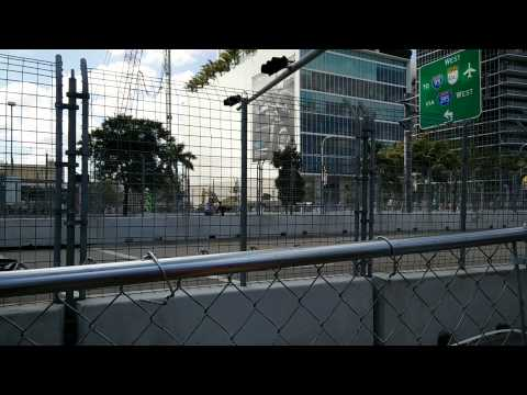 The sound of Formula E (first race ever in Miami)