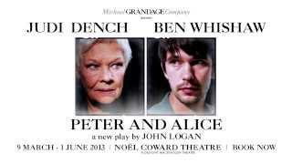 Judi Dench - Peter & Alice - Noel Coward Theatre, 2013 - ATG Tickets