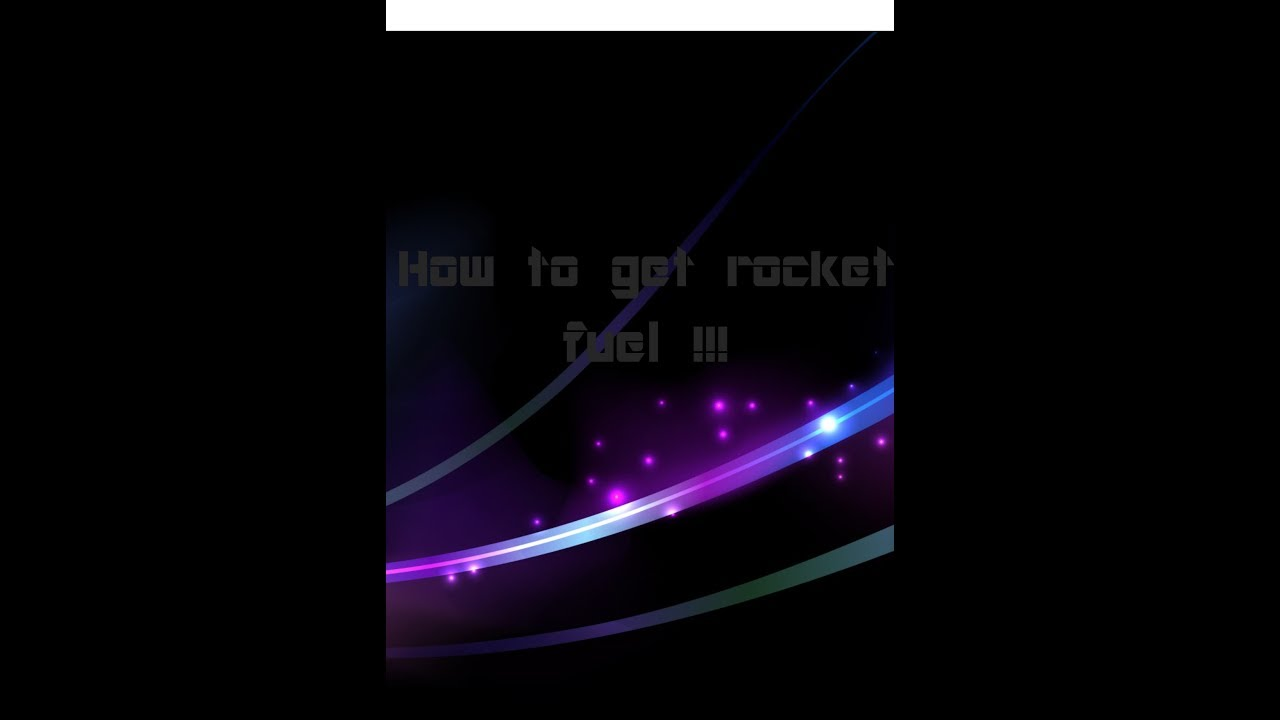 how to make rocket fuel