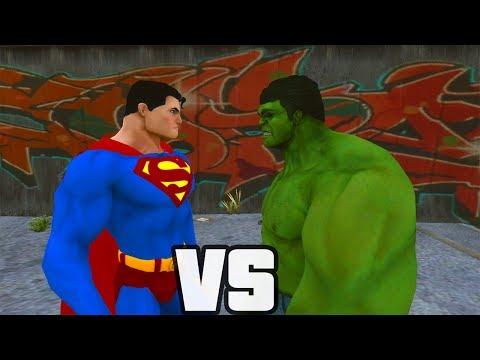 Superman Vs Hulk - O Combate
