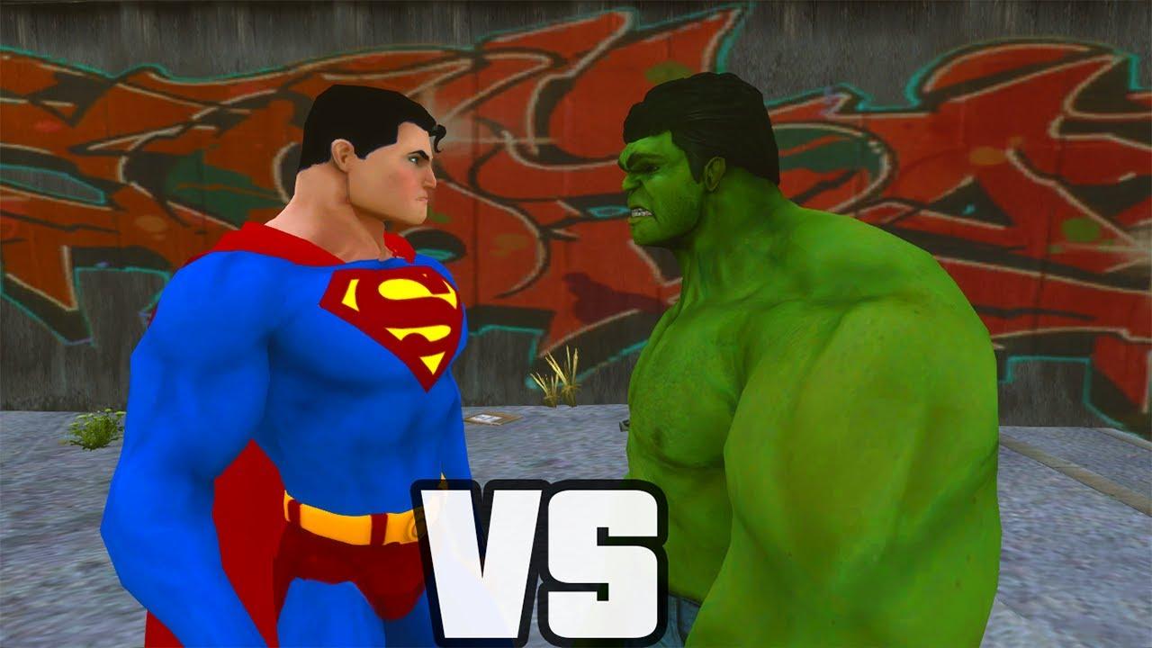 Superman vs hulk o combate youtube