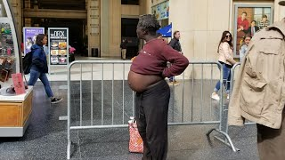 Homeless LA Woman Exposing Herself On Hollywood Blvd