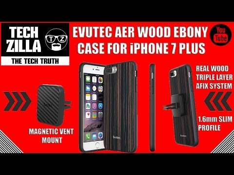 Evutec iPhone 7 Plus AER Ebony Wood Case & Magnetic Vent Mount