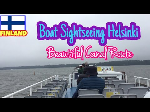 🇫🇮 FINLAND - Boat Sightseeing Helsinki , Beautiful Canal Route