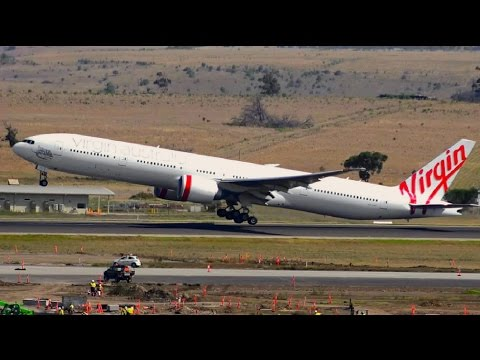 RE-INAUGURAL | Virgin Australia Boeing 777-300ER Takeoff ● Melbourne Airport Plane Spotting