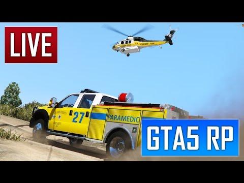 GTA 5 RP : 1ER JOUR CHEZ LES POMPIERS  [SADOJ]