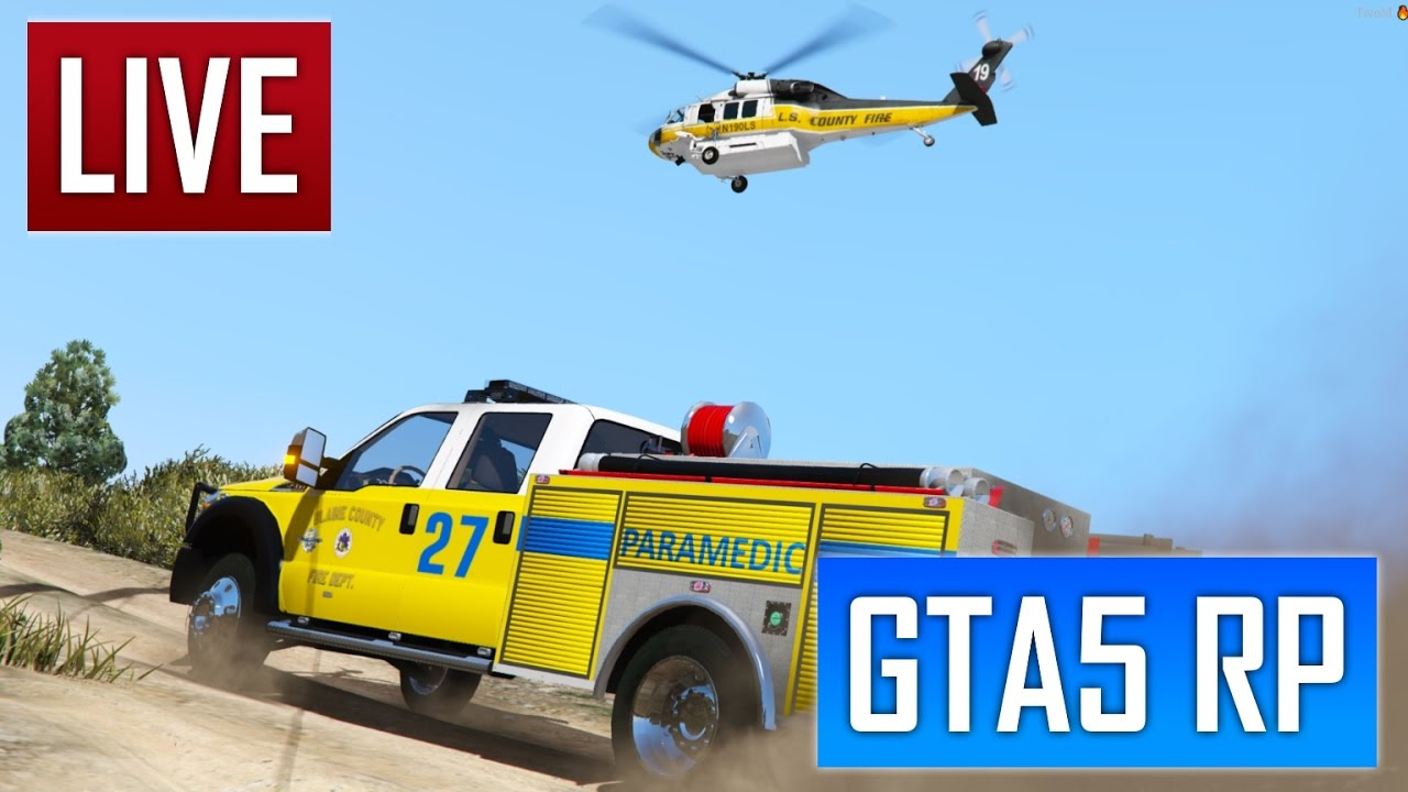GTA 5 RP : 1ER JOUR CHEZ LES POMPIERS SADOJ - YouTube