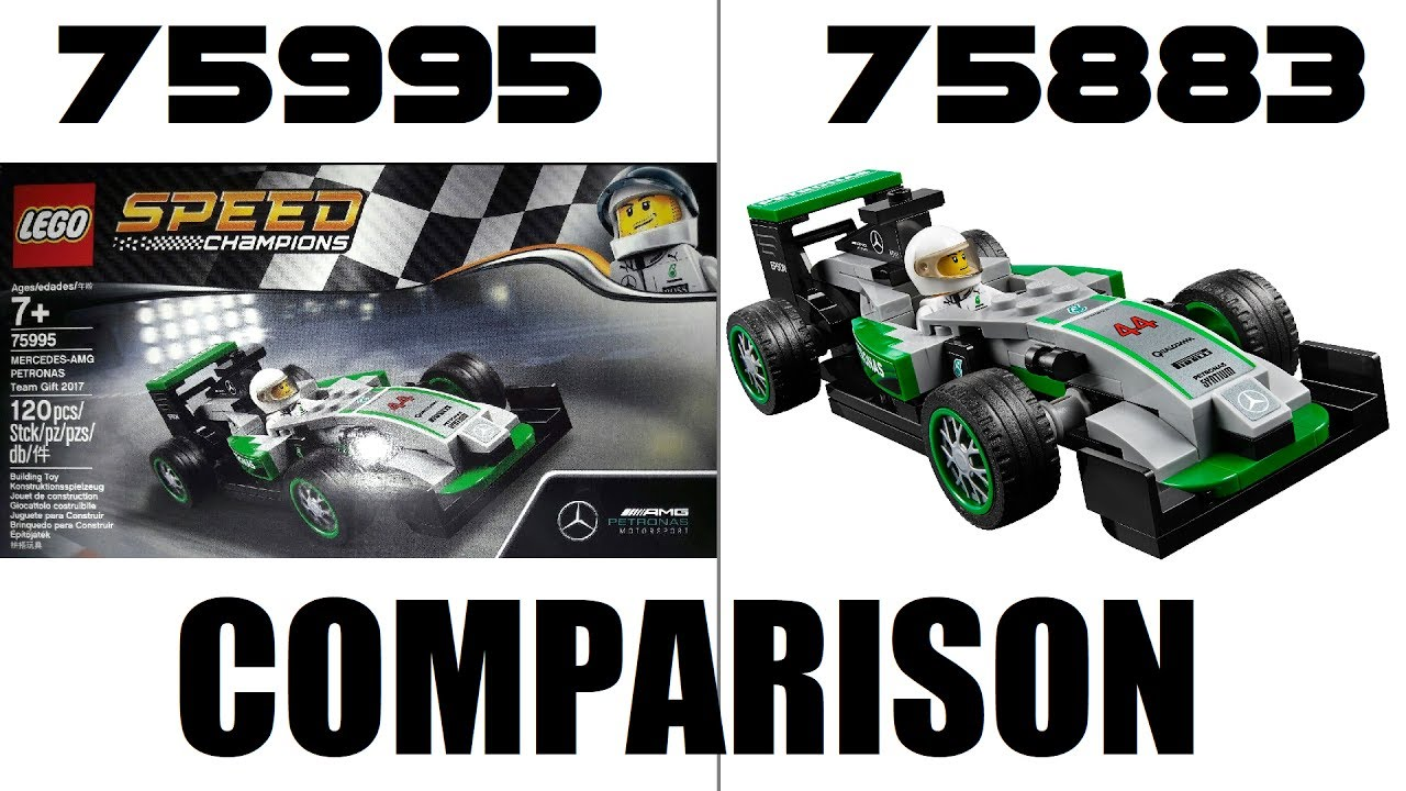 lego speed champions 75995 mercedes amg petronas team gift 2017 preview comparison youtube. Black Bedroom Furniture Sets. Home Design Ideas