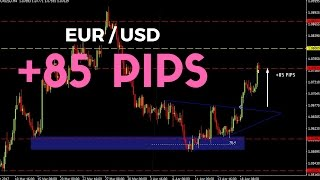 LIVE FOREX PROFITS: +85 PIPS ON THE EUR/USD