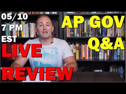 AP Gov LIVE Q&A 5/10 7 PM EST