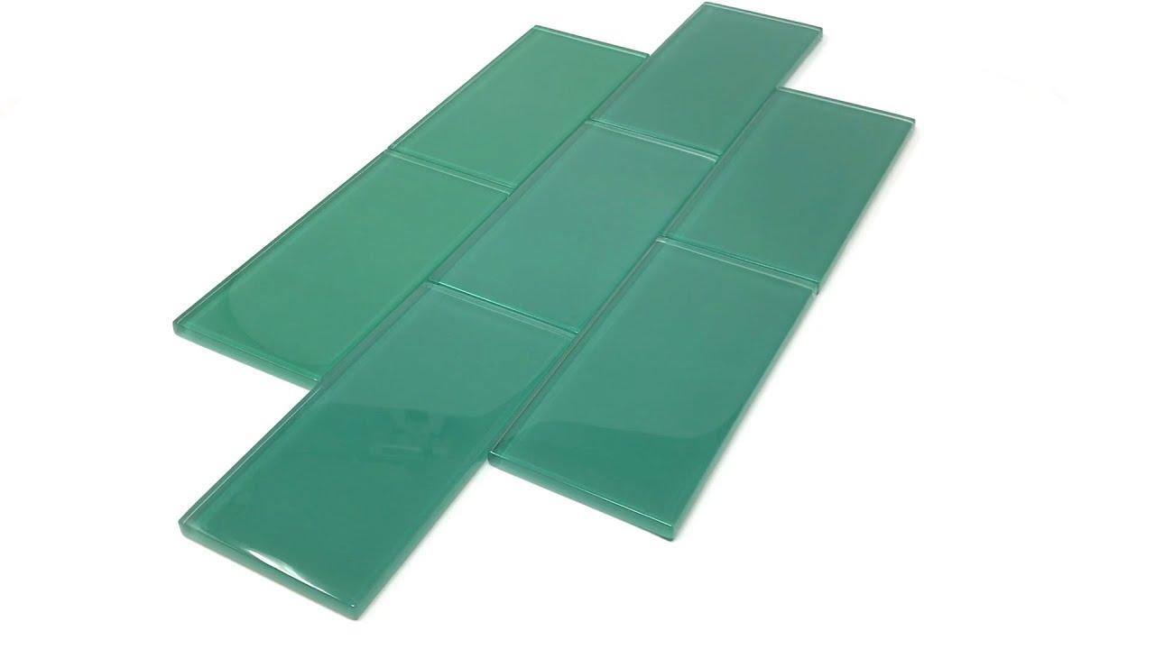giorbello glass subway tile 3 x 6 emerald green