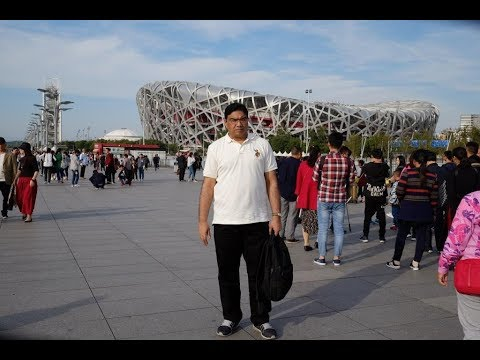 Crowd at Beijing National Stadium (Bird's Nest), Beijing, China, Videography by Naresh Agarwal