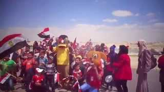 The future of the nation celebrates Orphan Day party in the new Suez Canal, April 4, 2015