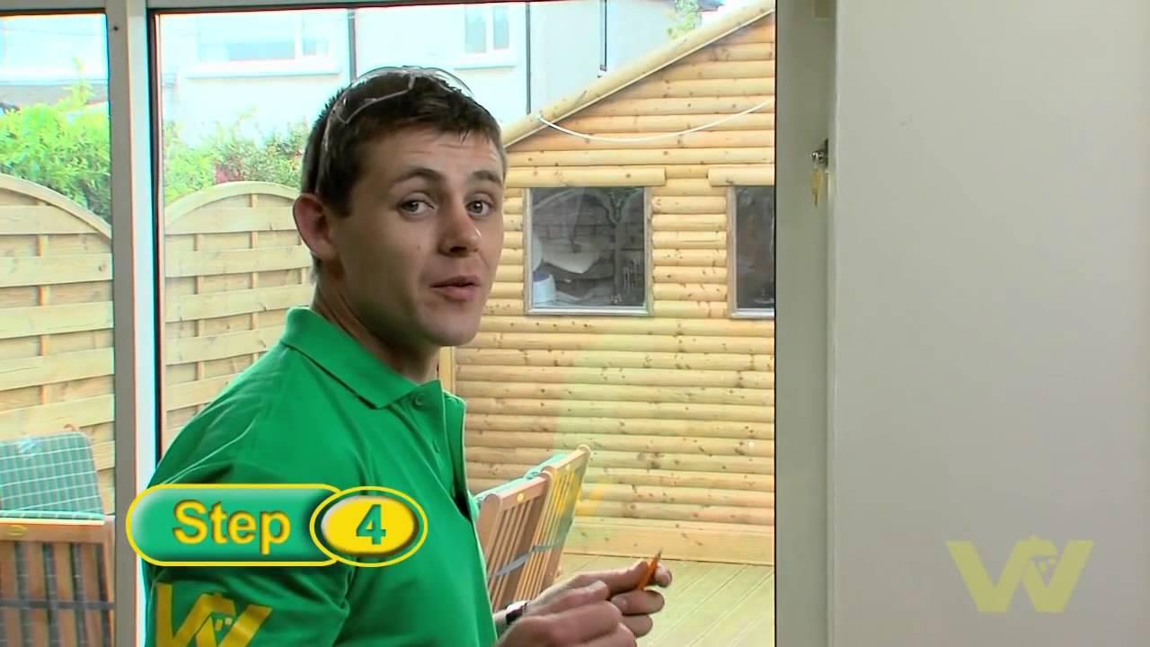 How To Install A Patio Door Lock Youtube