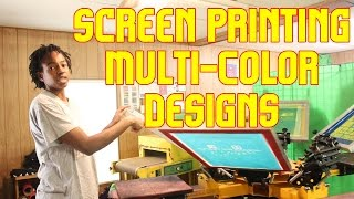 How to Screen Print T-shirts With Multi-Color Designs Set up and Register Screens TshirtChick